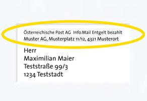 Info.Mail richtig adressiert